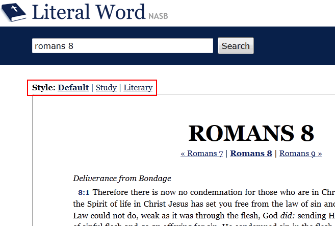 Literal Word - The NASB Online